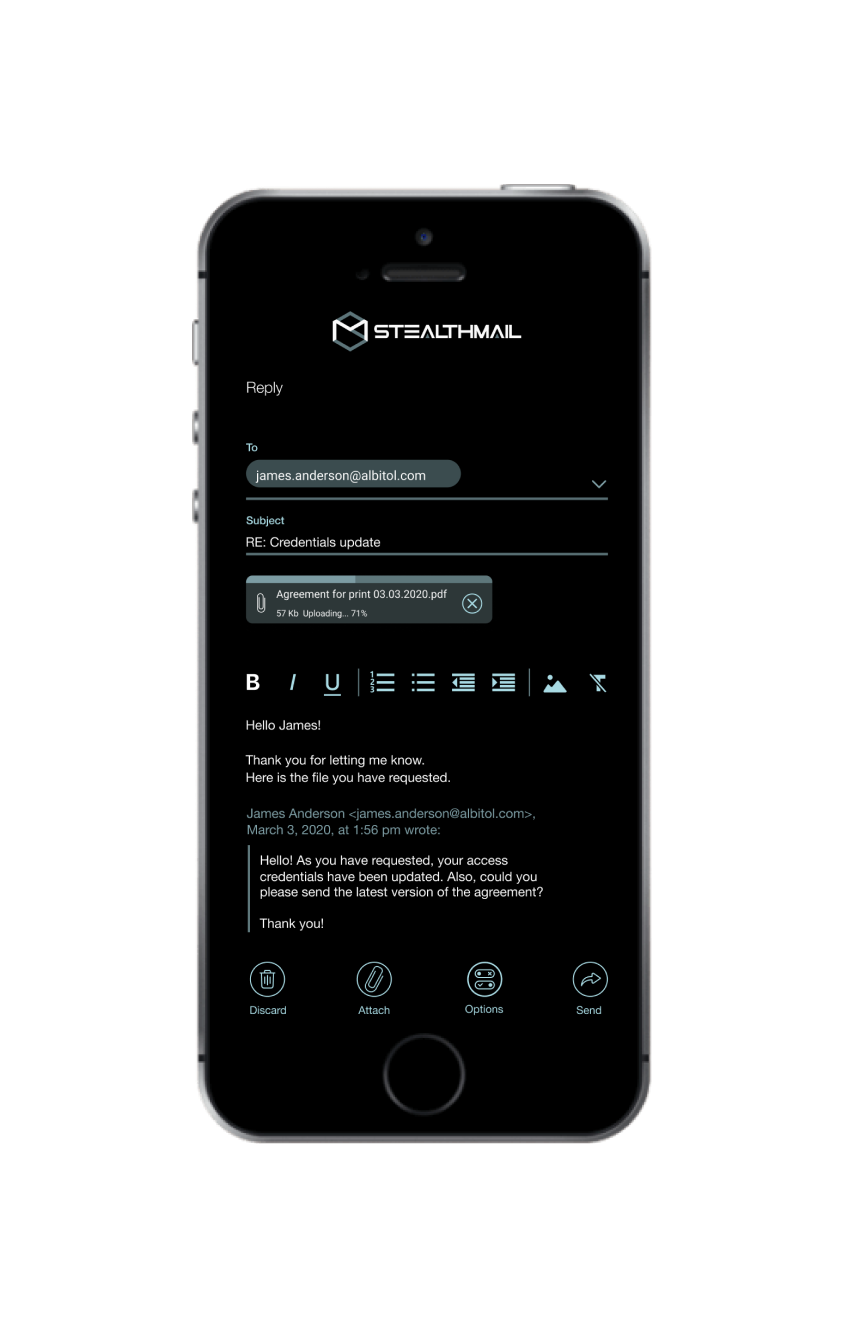StealthMail for Mobile