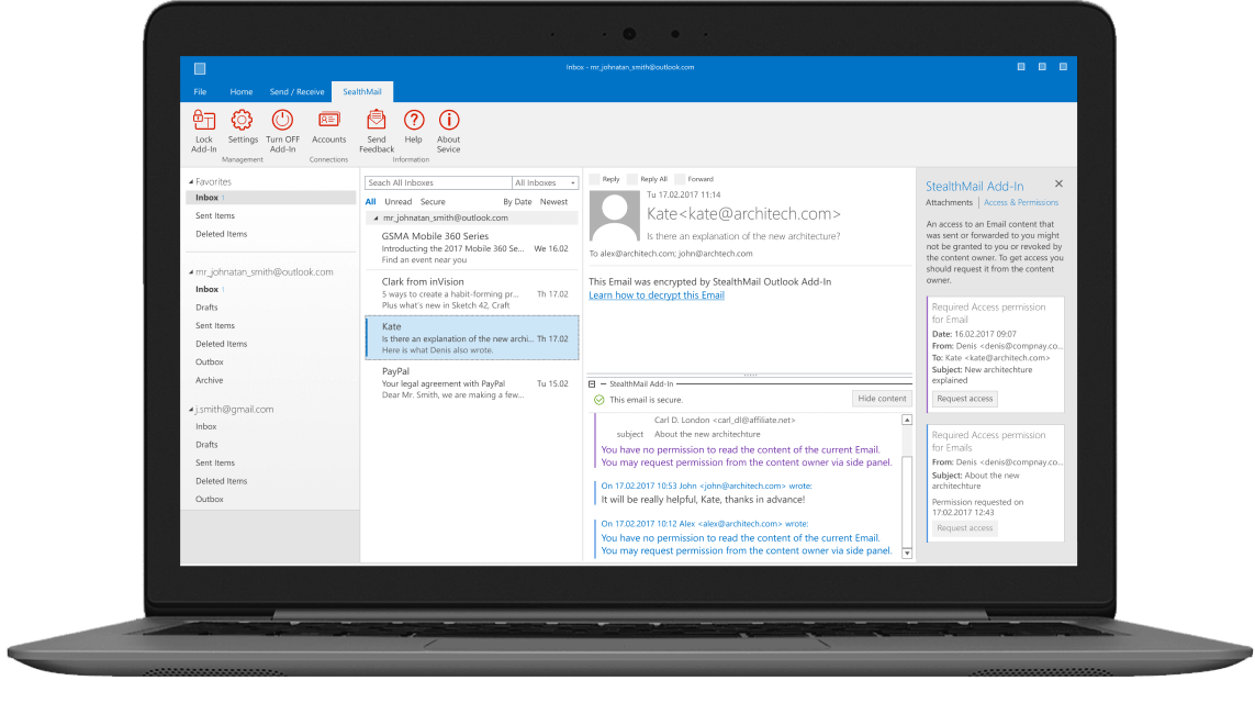 StealthMail for Outlook Notebook
