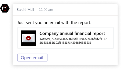 Microsoft Teams StealthMail protected enviroment