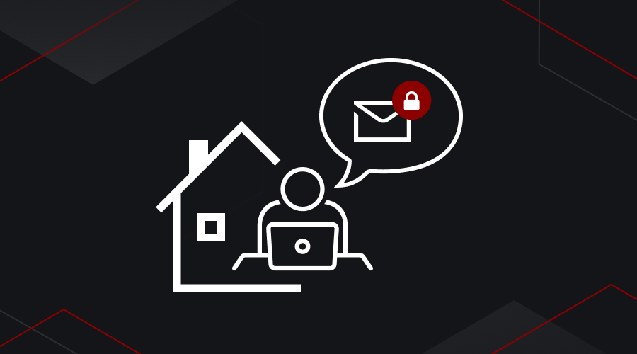 Email security while working from home