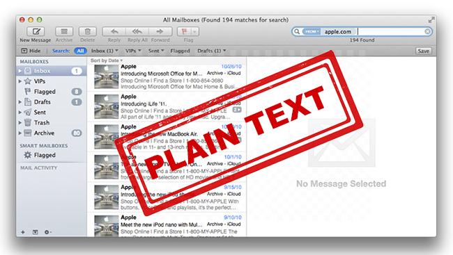 Apple Mail Secrets Explained In Plain Text